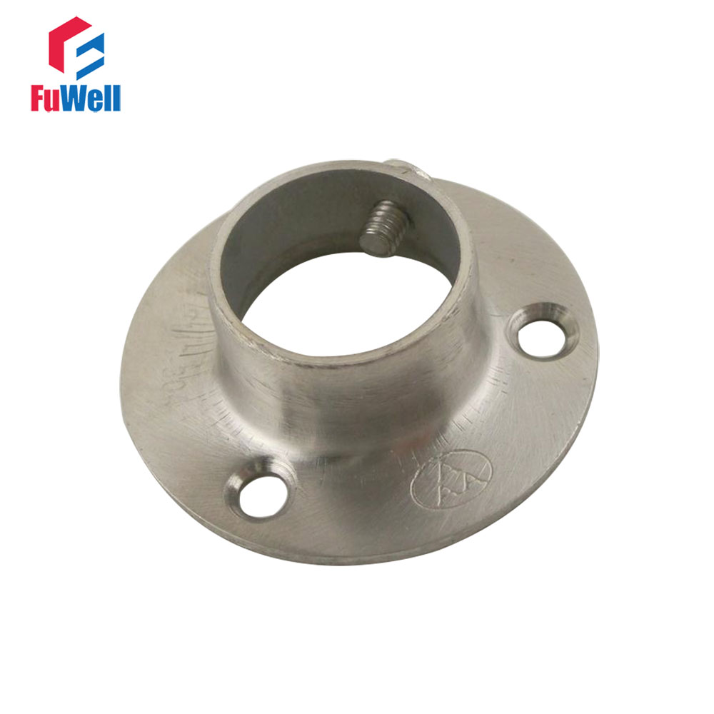 2pcs 19mm Flange Pipe Bracket 15mm Height Hanging Clothes