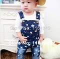 2017 summer baby toddler boys overalls jeans kids children jumpsuit pants jeans trousers retail