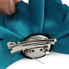 AASS Silk Flower Hair Clip Wedding Corsage 8cm - Dark Green