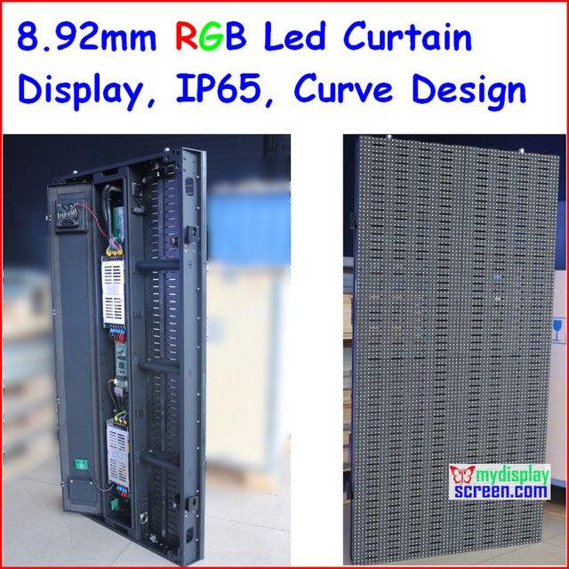 Открытый светодиодный занавес на сцене, SMD 3 В 1 8.928 ММ для фона, использовать для внутреннего/наружного, тонкий дизайн, открытый кривой светодиодный занавес видео,
