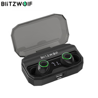 BlitzWolf FYE3S TWS True Wireless bluetooth 5.0 Earphone Digital Power Display Smart Touch Bilateral Call Headset Charging Box