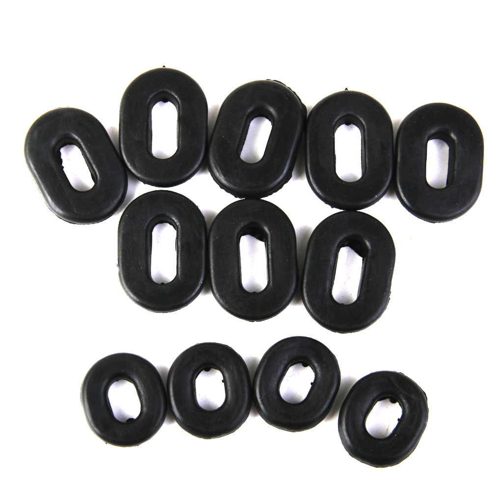 12pcs Black Rubber Side Cover Grommets Motorcycle Fairings For Honda CG125 Great Replacement Damaged Grommet Rubber