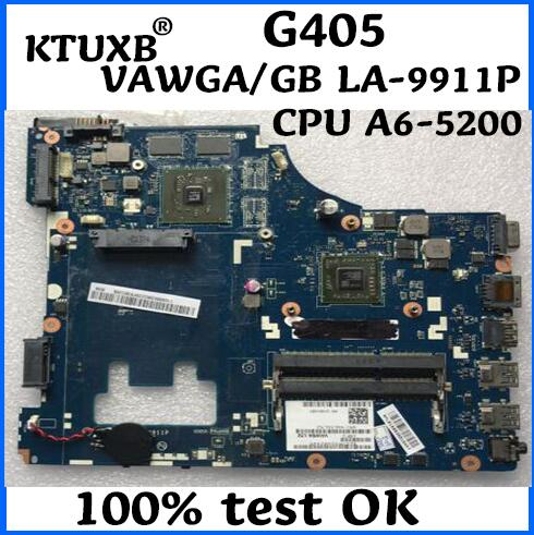 KTUXB VAWGA GB LA 9911P motherboard for Lenovo G405 notebook motherboard AMD CPU A6 5200 DDR3