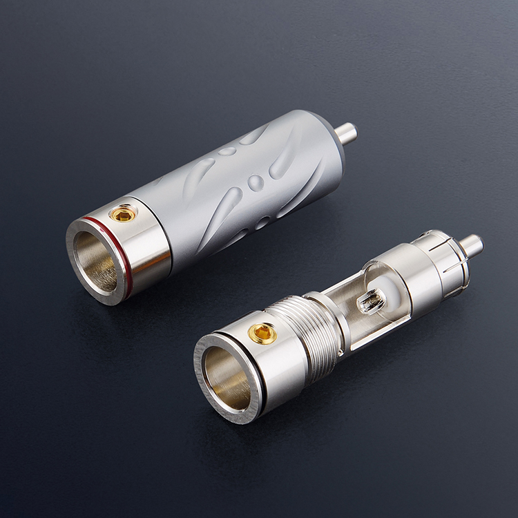 4Pcs Viborg VR109R Pure Copper Rhodium Plated RCA Audio Plug 9mm Cable Copper Audio Phono Connector viborg vb202r hi end rhodium plated lock speaker cable banana plug connector x
