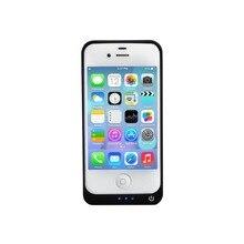 Baterías portátiles чехол для iPhone 4 4S 4 г 4000 мАч Портативный резервного копирования Батарея Зарядное устройство черно-белый цвет продлить чехол с аккумулятором с подарок