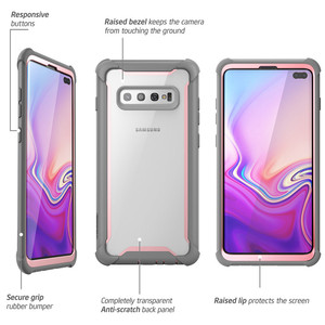 Image 4 - For Samsung Galaxy S10 Plus Case 6.4 inch i Blason Ares Full Body Rugged Clear Bumper Cover WITHOUT Built in Screen Protector