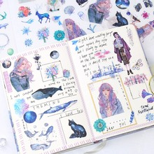 Meisje Cartoon Stickers Anime Leuke Kawaii Sticker Mobiele Telefoon Boek Gift DIY Ablum Dagboek Scrapbooking Decoratie Label Kid Sticker(China)