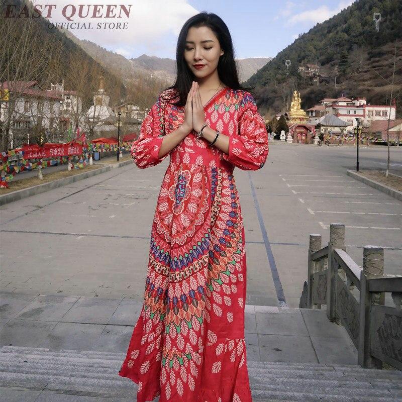 Hippie Ethnique Aa3394 1 Robes Sexy Vacances Mode Style Chic Plage Boho Femmes Mexicain Robe De Femme Bohème Vêtements qatAA1