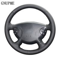 GNUPME Artificial Leather Hand Stitched Black  Car Steering Wheel Cover for Mercedes Benz W210 E240 E63 E320 E280 2002 2008|Steering Covers|   -