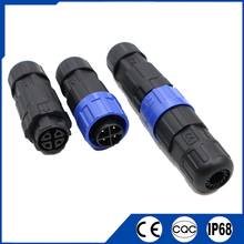 Waterproof Aviation Connector M16 10.5mm 15A 2/3/4/5/6/7/8/9/10/11/12 Pin Male Female Docking Connectors Plug and Socket