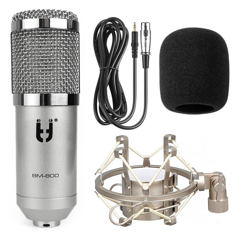 Ituf BM 800 Professional Condenser Microphone + Metal Shock Sound Recording microphone for Computer Karaoke KTV