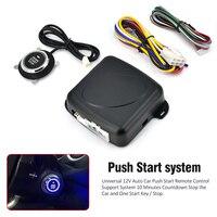 10PCS A Lot RFID Car Alarm Finger Push Starter Engine Start Stop Transponder Remote Start Button
