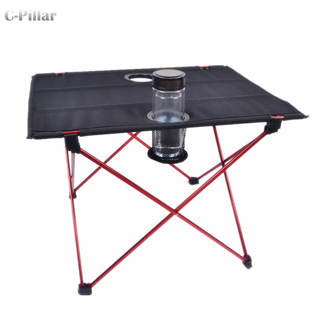 ФОТО Extremely Lightweight! Portable Outdoor Table Aluminium Alloy Folding Table for Camping Picnic Travel Fishing BBQ Outdoor