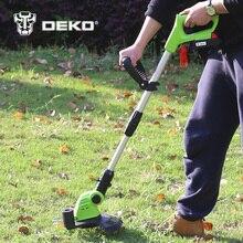 DEKO DKGT06 20 V Lityum Pil Paketi ile 1500 mAh Akülü Çim Adamı ve Bıçak Kolye