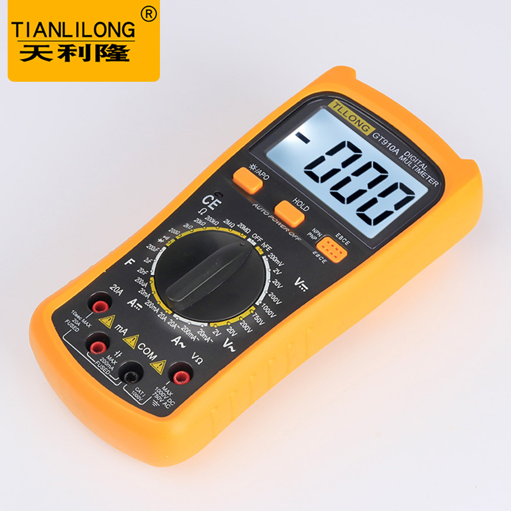 Best Handheld Lcd Multimetro Electric Digital Multimeter Circuit Top Popular Voltmeter Ammeter Tester With Meter Ac Dc Ohm Buzzer Gt910a In Multimeters From Tools On