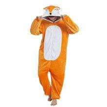 Kobiety jednorożec piżamy ustawia flanelowe Cartoon zwierząt Fox Onesie kobiety zima unicornio Nightie piżamy piżamy Homewear