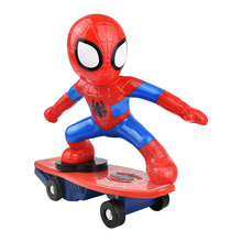 Electric Super hero Spiderman Robot Car 1:16 RC Cars Marvel Scooter Avengers Electric Racing Car Remote Control Car For Children