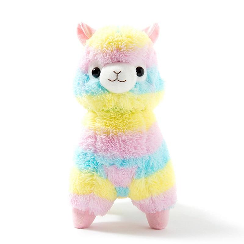 1pcs 35cm 50cm Rainbow Alpaca Plush Sheep Toy Japanese Soft Plush Alpaca Baby Plush Stuffed Animals Alpaca Gifts