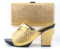 2016 Nova Moda Sapatos Italianos com sacos de Harmonização Para A Festa de africano sapatos E Bolsas Estabelecidas para sapato De Casamento e saco conjunto das mulheres MQ1-28