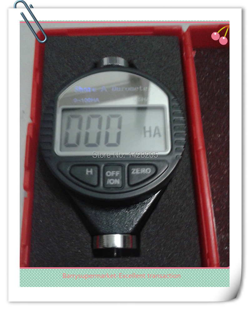 ФОТО Durometer 0~100HA Dial Scale Rubber Portable Handheld Shore A Digital LCD Display Hardness Meter Tester
