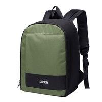 CADeN Backpacks Camera Case Shoulders Bags Waterproof Men Women Digital Camera Dslr Army Green Backpack For