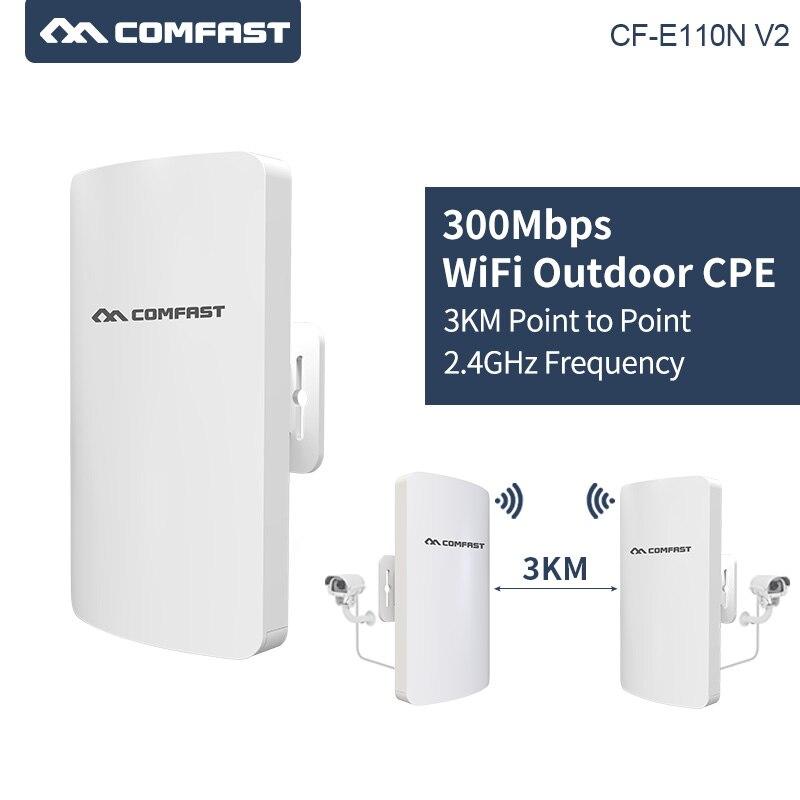2 pièces longue portée Comfast 300 Mbps mini extérieur sans fil cpe 11dbi antenne wifi répéteur routeur point d'accès pont AP pour IP cam