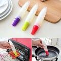 Food Grade Silicone Escova de Pastelaria para Cozinhar Baking Torrefação Escova 19x3.3 cm Ferramentas de Pastelaria Máquina de Lavar Louça Cor Aleatória