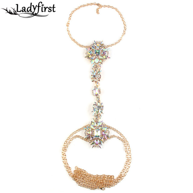 Long Boho Fashion Body Chain Necklace Pendant