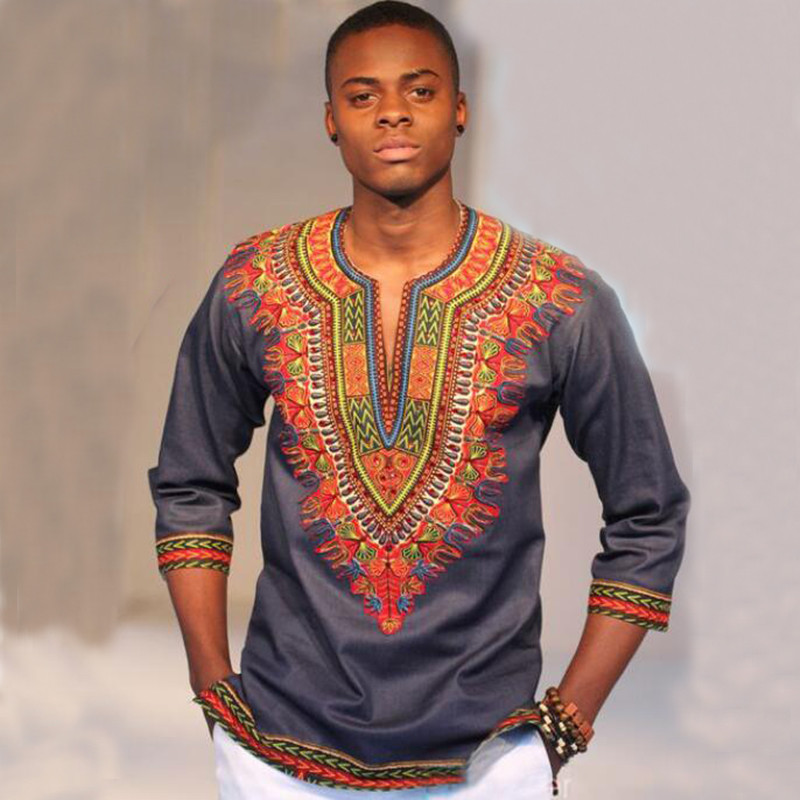 African Shirts Dashiki Design Africa Clothes For Men Traditional Ethnic Vintage Bohemian Spring Summer Shirt Embroidery Clothing