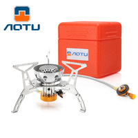 Outdoor stove Split Windproof hiking alpine furnace with ignition camping gas stove high power alloy Folding cooking stove