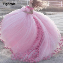 Eightale Cloud Flower Rose Wedding Dresses 2019 Bridal Gown