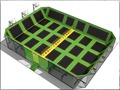 12*17m  trampoline park, big trampoline center, customized designed and produced