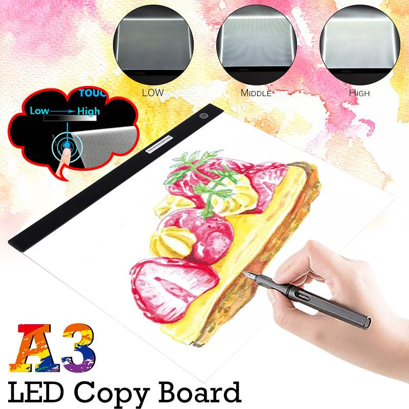 A3 Size Graphic Tablet Writing Painting Light Box Desk Lamp USB Operated Anime Drawing LED Tablet Portable Copy Board w/USB Cab
