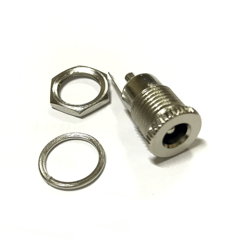 100PCS/LOT DC099 5.5 mm x 2.1mm <font><b>DC</b></font> Power Jack Socket Female Panel Mount Connector <font><b>DC</b></font>-<font><b>099</b></font> 5.5*2.1mm connector AQJG image