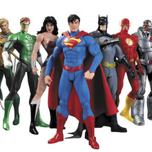Huong Anime Figure 17 cm Superheroes Batman Green Lantern Flash Superman Wonder Woman PVC
