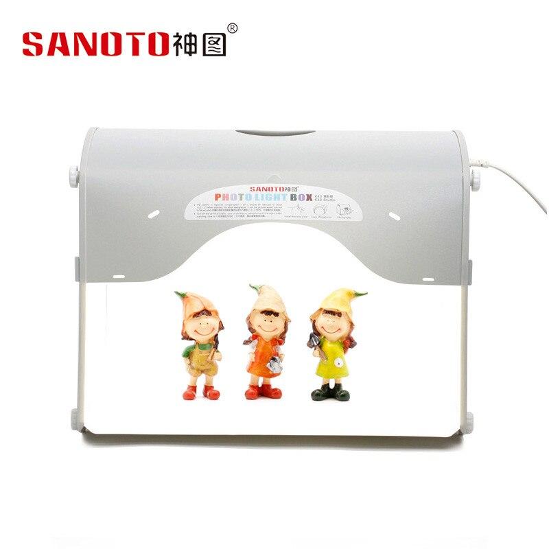 Caixa Fotografia Portátil Barraca de Tiro Pequeno Dobrável Caixa de Luz sanoto Softbox 50 cm luz tenda K50 CD50