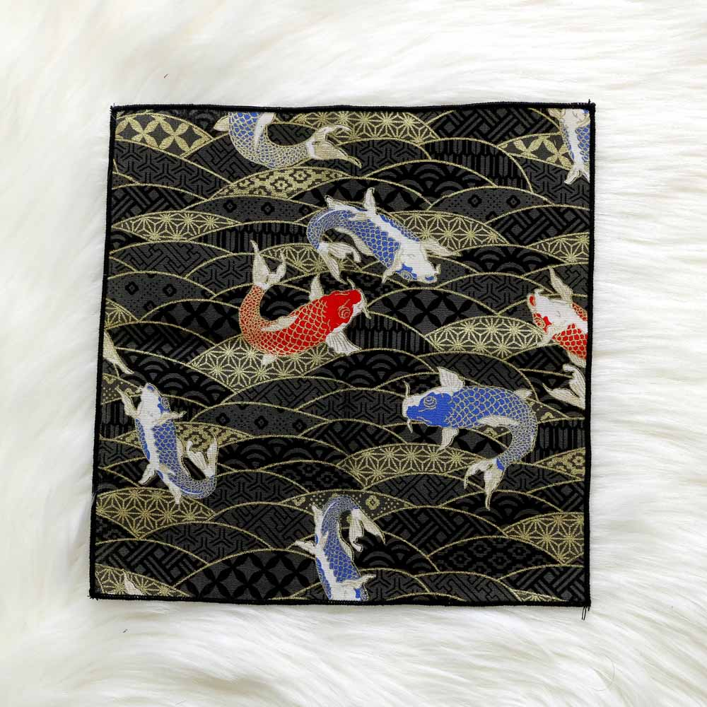 Hand - Made Fabric Japanese Style And Wind Men's Pocket Square Scarf Bronzing Butterfly Waves Cherry Blossom Crane Handkerchief