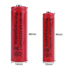 GTF 1.2V 3000mah AA Battery NI-MH Rechargeable 1800mAh AAA Electronic cigarette battery LED Flashlight cr2032