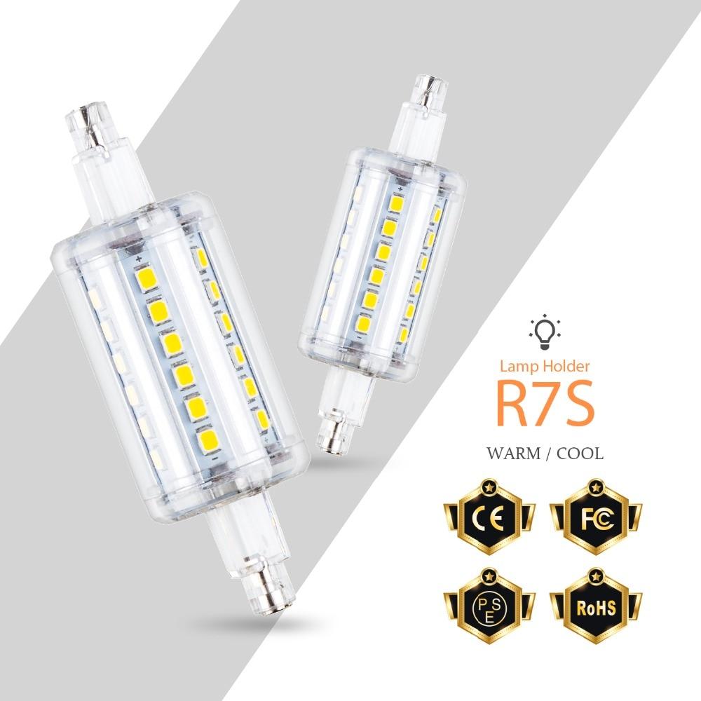 220V Led Bulb R7S LED Corn Light 2835 78mm 118mm 135mm 189mm Floodlight 5W 10W 12W 15W Lamp 85-265V Flood Light Replace Halogen