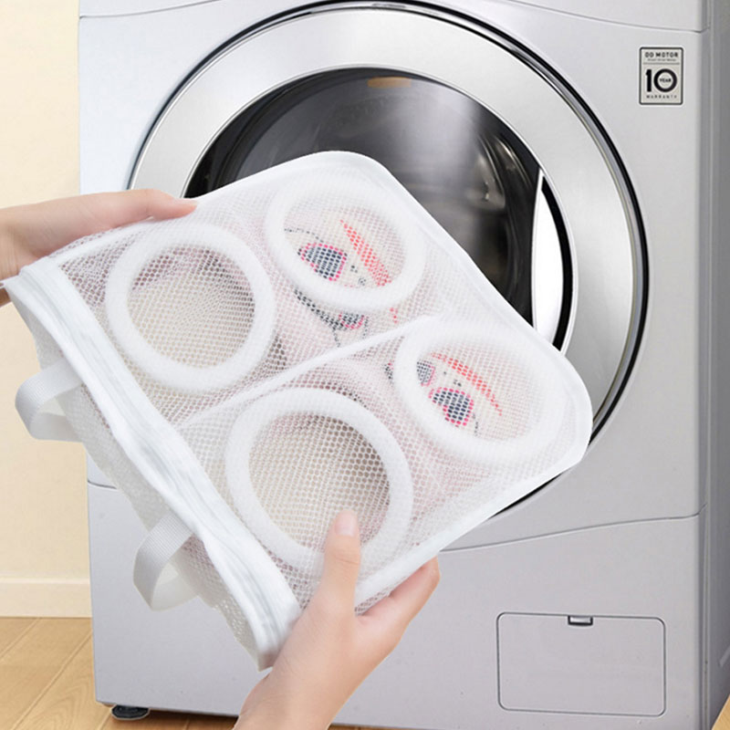 Lazy Wash Shoes Artifact Wash Shoes Bag Washing Machine Thickening Can Be Cool Hanging Shoes Mesh Wash Bag Dropshipping