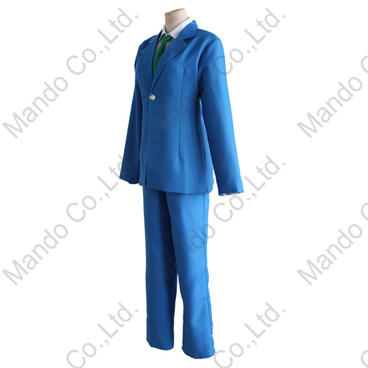 Anime Detective Conan Case Closed Kudou Shinichi Cosplay Costumes Mens school uniform suit Halloween outfit 3pcs set