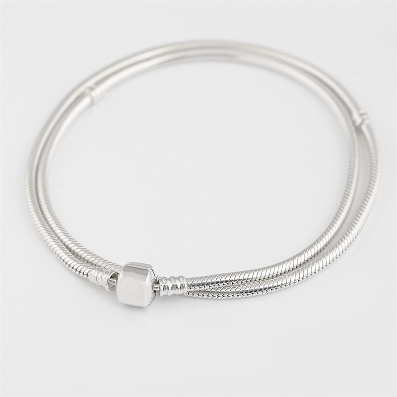100% 925 argent Sterling charme Moments serpent chaîne colliers Fit Europe perles Vintage femmes bijoux à bricoler soi-même