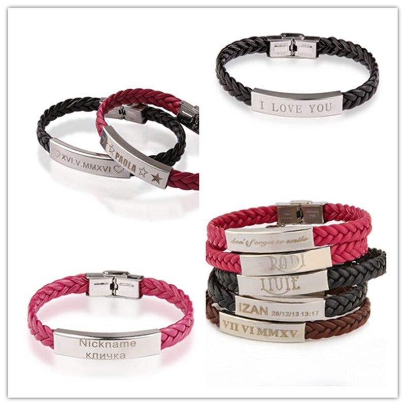 AZIZ BEKKAOUI tilpasset logo ID armbånd navn armbånd par armbånd - Mode smykker - Foto 5