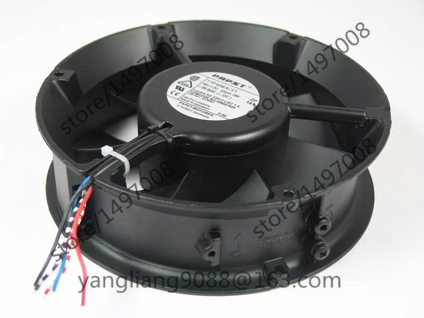 Free Shipping For ebmpapst TYP 6248N/3T, TYP 6248 N/3T DC 48V 375mA 4-wire Server Round Cooling fan free shipping 370 6072 03 540 6706 01 server fan for sun netra440 n440 tested working
