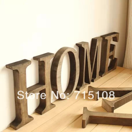 Letters Home Decor. Letter Interior Decoration Deco House Home