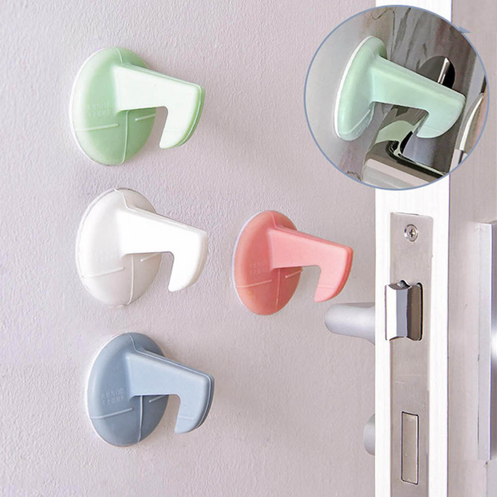 Self-adhesive Silicone Anti-Collision Crash Doorknob House Door Stopper Wall Protectors Pad Door Handle Lock Silencer Protective