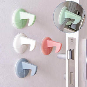 Pad Door Handle Lock Self-adhesive Silicone Anti-Collision Crash Doorknob House
