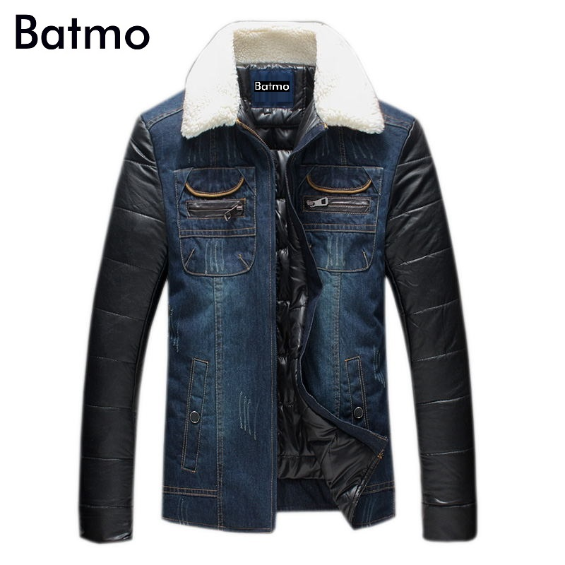 2017 new arrival winter high quality men's Denim fabric Down & Parkas,winter jacket men ,Plus-size M, L,XL,2XL,3XL,4XL,5XL