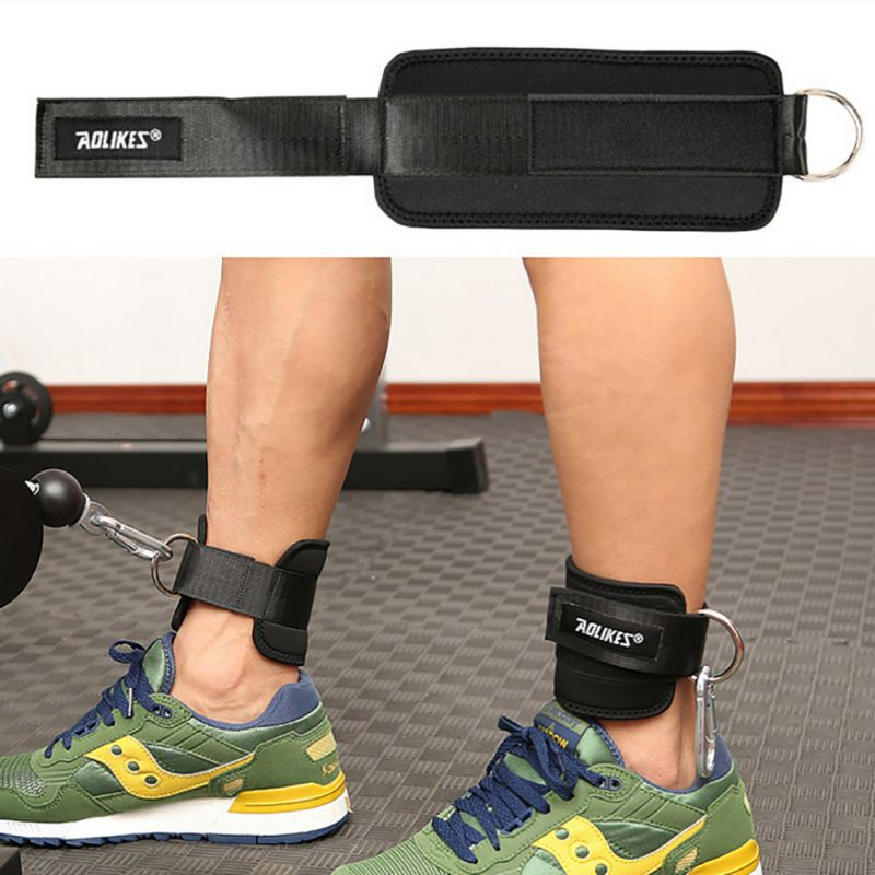 Adjustable Protection Ankle Guard Strap D ring Thigh Leg