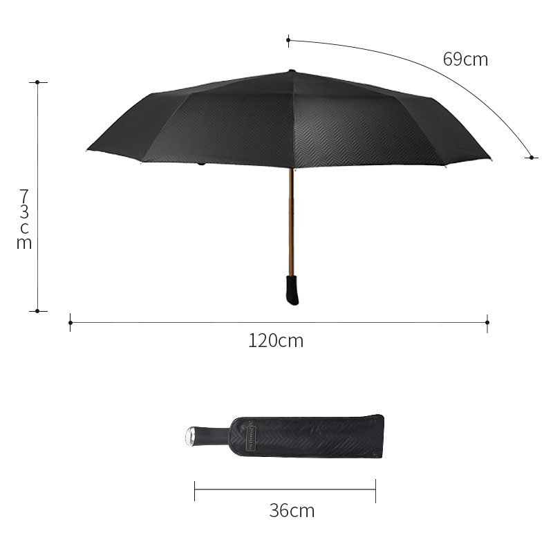 2018 big rain umbrella men windproof umbrellas male folding black TTK - Household Merchandises
